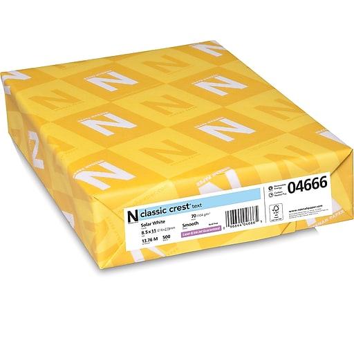 "CLASSIC CREST® Paper, 8 1/2"" x 11"", 70 lb., Smooth Finish, Solar White, 500/Ream"