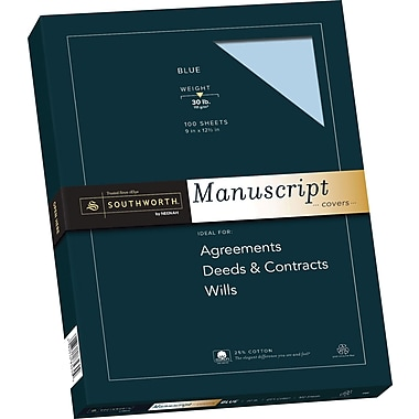 SOUTHWORTH 25% Cotton Manuscript Covers, 9