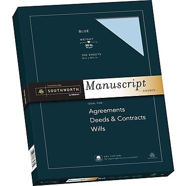 Southworth 25% Cotton Blue Manuscript Paper, 9