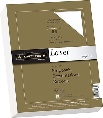 Southworth 25% Cotton Laser Paper, 8.5