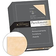 "Southworth 8.5"" x 11"" Specialty Paper, 24 Lbs., Parchment, 500/Box (894C)"