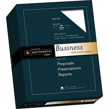 SOUTHWORTH 100% Cotton Business Paper, 8 1/2