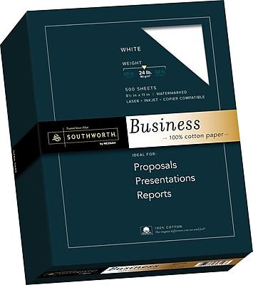 Southworth 100% Cotton Business Paper, 8.5