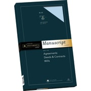 "SOUTHWORTH Manuscript Covers, 9"" x 15 1/2"", 30 lb., Smooth Finish, Blue, 100/Box"