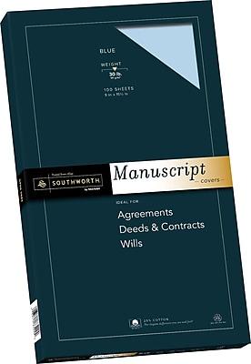 Southworth 25 % Cotton Blue Manuscript Covers, 9