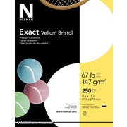 "EXACT Vellum Bristol Cardstock, 8 1/2"" x 11"", 67 lb., Semi-smooth Finish, White"