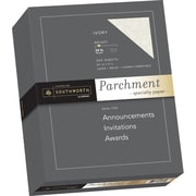 "SOUTHWORTH Parchment Specialty Paper, 8 1/2"" x 11"", 24 lb., Parchment Finish, Ivory, 500/Box"