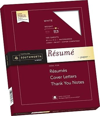 Southworth 100% Cotton Resume Paper, 8.5