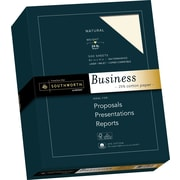"SOUTHWORTH 25% Cotton Business Paper, 8 1/2"" x 11"", 24 lb., Wove Finish, Natural, 500/Box"