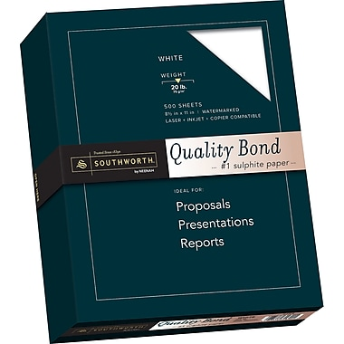 SOUTHWORTH Quality Bond Paper, 8 1/2