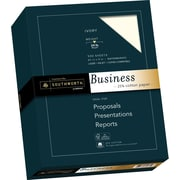 "SOUTHWORTH 25% Cotton Business Paper, 8 1/2"" x 11"", 24 lb., Wove Finish, Ivory, 500/Box"