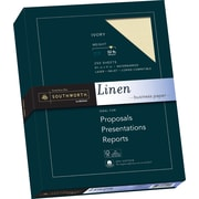 "SOUTHWORTH Linen Business Paper, 8 1/2"" x 11"", 32 lb., Linen Finish, Ivory, 250/Box"