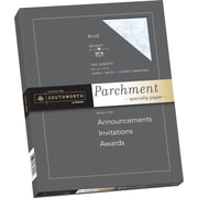 "SOUTHWORTH Parchment Specialty Paper 8 1/2"" x 11"" 24 lb. Blue, Parchment Finish 100/Box (P964CK)"