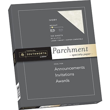 SOUTHWORTH Parchment Specialty Paper, 8 1/2