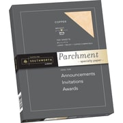 "SOUTHWORTH Parchment Specialty Paper, 8 1/2"" x 11"", 24 lb., Parchment Finish, Copper, 100/Box"
