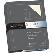 "SOUTHWORTH Granite Specialty Paper, 8 1/2"" x 11"", 32 lb., Granite Finish, Ivory, 250/Box"