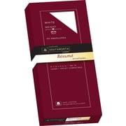 SOUTHWORTH 100% Cotton Resume Envelopes, #10, 24 lb., Wove Finish, White, 50/Box