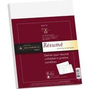 "SOUTHWORTH® 25% Cotton Resume Envelope, 9"" X 12"", 24 lb., Wove Finish, White, 25/Box"