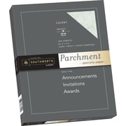 "SOUTHWORTH® Parchment Specialty Paper, 8 1/2"" x 11"", 24 lb., Parchment Finish, Celery, 100/Box"