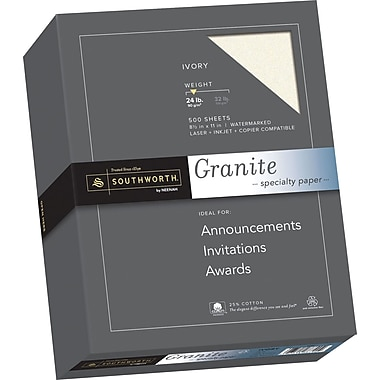 SOUTHWORTH Granite Specialty Paper, 8 1/2