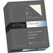 "SOUTHWORTH Granite Specialty Paper, 8 1/2"" x 11"", 24 lb., Granite Finish, Ivory, 500/Box"