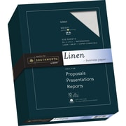 "SOUTHWORTH Linen Business Paper, 8 1/2"" x 11"", 24 lb., Linen Finish, Gray, 500/Box"