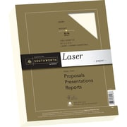 "SOUTHWORTH® Premium Laser Paper, 8 1/2"" x 11"", 32 lb., Smooth Finish, Ivory, 300/Box"