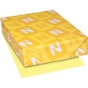 """EXACT® Vellum Bristol Cardstock, 8 1/2"""" x 11"""", 67 lb., Semi-smooth Finish, Yellow, 250/Pack"""