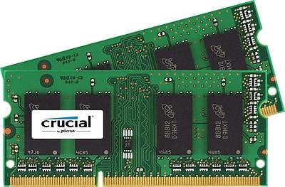 Crucial 16 GB Kit (8 GBx2) SODIMM DDR3 Laptop Memory (PC3-12800)