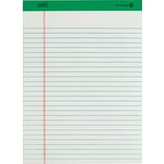 "Staples 100% Recycled Pad, 8-1/2"" x 11-3/4"", White, 50 Sheets, 12/Pack"