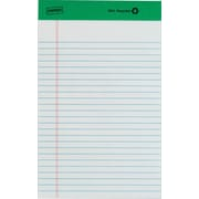 "Staples® 100% Recycled Legal Pad, 5"" x 8"", Narrow Rule, 50 Sheets, 12/Pack"