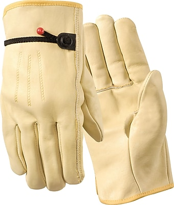 Wells Lamont Cowhide Leather Driver Gloves, 2XL, 3 Pair/Pk
