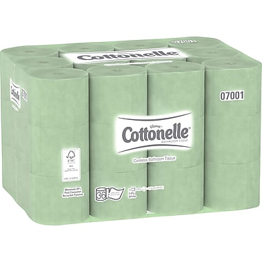 Kleenex® Cottonelle® Coreless Toilet Paper Standard Roll, 2-PLY, 35 Rolls/Case, 800 Sheets/Roll (07001)
