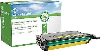 Staples® Remanufactured Color Laser Toner Cartridge, Samsung CLP-775, Yellow