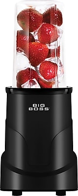 Big Boss 4-Piece Personal Countertop Blender Mixing System, Black
