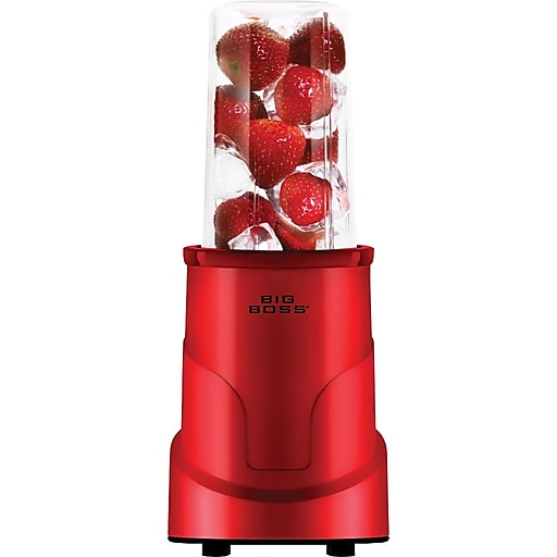 Big Boss 4-Piece Personal Countertop Blender Mixing System, Red