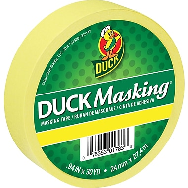 Duck – Ruban de masquage de couleur, 0,94 po x 30 verges, jaune