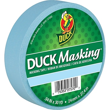 Duck – Ruban de masquage de couleur, 0,94 po x 30 verges, bleu