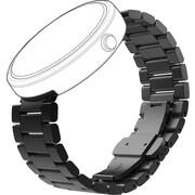 Motorola - Bracelet en métal pour montres intelligentes Moto 360, noir
