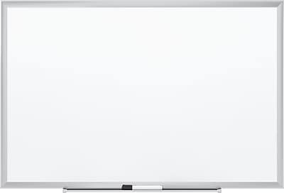 Staples Standard Steel Whiteboard, Aluminum Finish Frame, 2'W x 1.5'H
