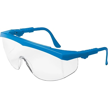 MCR Safety® ANSI Z87.1 Tomahawk® Safety Glasses, Clear/Blue