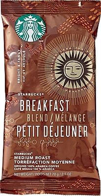 Starbucks® Breakfast Blend Ground Coffee, Regular, 2.5 oz., 18 Packets