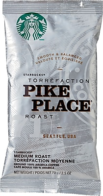 Starbucks® Pike Place® Roast Ground Coffee, Regular, 2.5 oz., 18 Packets