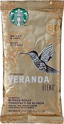 Starbucks® Veranda Blend Ground Coffee, Regular, 2.5 oz., 18 Packets