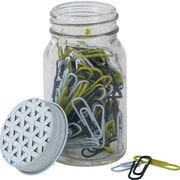 """Paperchase Get Organized, Paperclips In Jar, 1.1"""" x 0.5"""" x 0.1"""""""