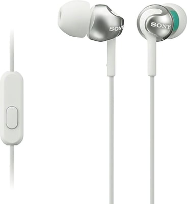 Sony MDREX110AP/W Step-up EX Series Earbud Headset, White