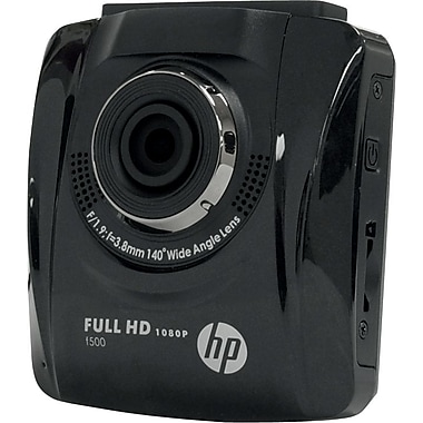 HP F500-VP Car Dash Cam Video recorder Full HD 1080p with 140 degree angle viewing.