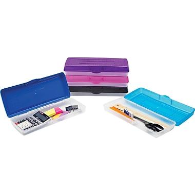 Staples® – Étui à crayons en plastique, long