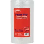 "Staples Bubble Wrap*, 12"" x 25' Roll, 3/16"" thick"