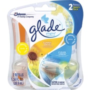 Glade® PlugIns® Scented Oil Warmer Air Freshener Refill, Linen & Sunny Days, 2/Pack